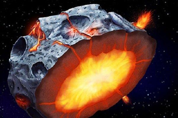 سیارک های اولیه آتشفشان های پرتابگر آهن بوده اند