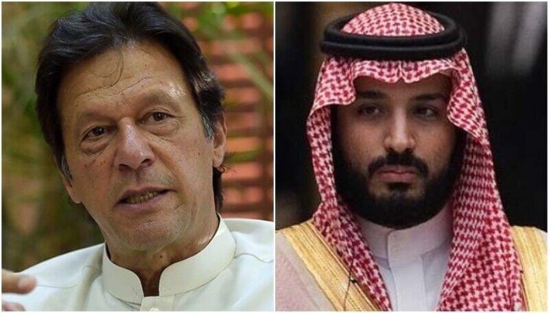 عمران خان و بن سلمان درباره حوادث آرامکو دیدار و گفت وگو کردند