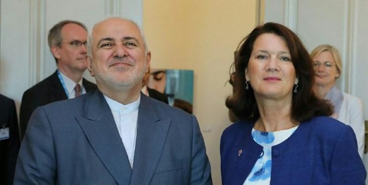 ظریف با وزیر تجارت سوئد ملاقات کرد