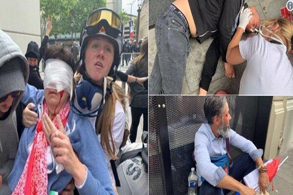 شانزه لیزه بسته شد، بیش از 100 معترض فرانسوی بازداشت شدند