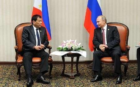 دیدار رئیس جمهور فیلیپین با پوتین، گلایه دوترته از ریاکاری و زورگویی آمریکا