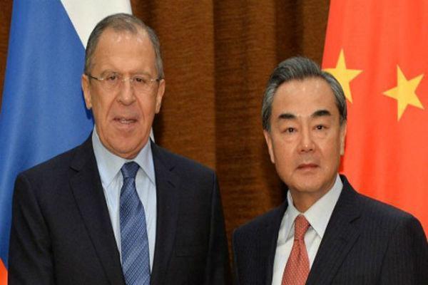 وزرای خارجه چین و روسیه تبادل نظر کردند