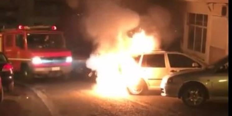 فیلم، خودروی دیپلمات ترکیه در یونان به آتش کشیده شد