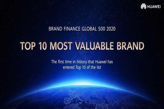 هوآوی برای اولین بار در لیست 10 برند با ارزش دنیا نهاده شد