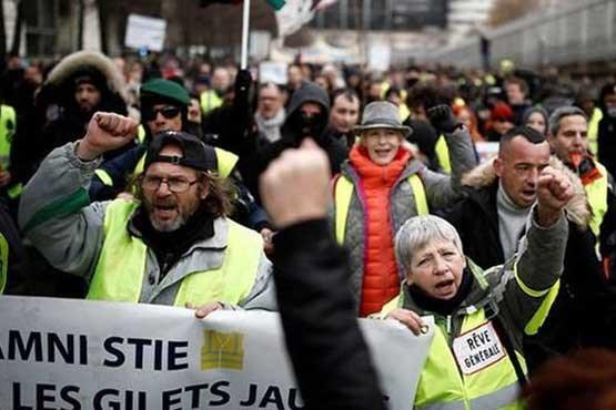 کرونا هم مانع ادامه اعتراضات جلیقه زردها نشد