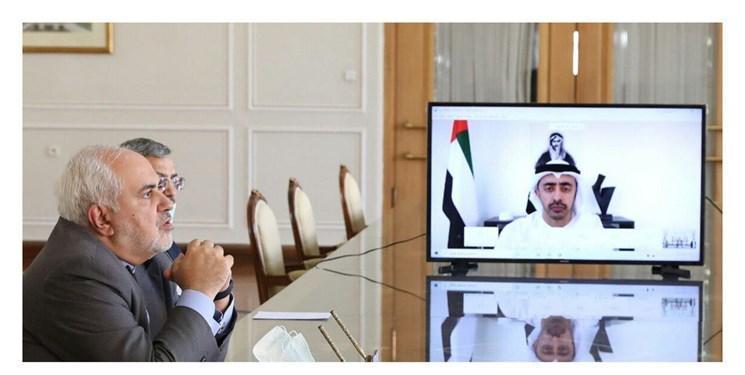 ظریف: با وزیر خارجه امارات توافق کردیم به گفت وگو بر مبنای ابتکار صلح هرمز ادامه دهیم