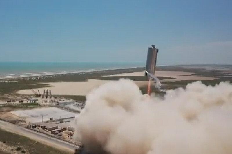 ببینید ، دومین پرش 500 فوتی موشک استارشیپ انجام شد