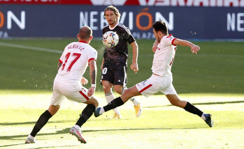 سویا 0 - 1 رئال مادرید؛ فرار زیدان از اخراج