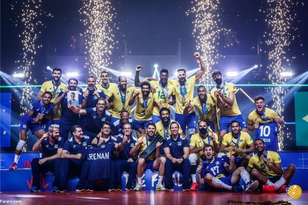 قهرمانی برزیل در لیگ ملت های والیبال