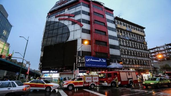 آتش سوزی در پاساژ علاالدین تهران