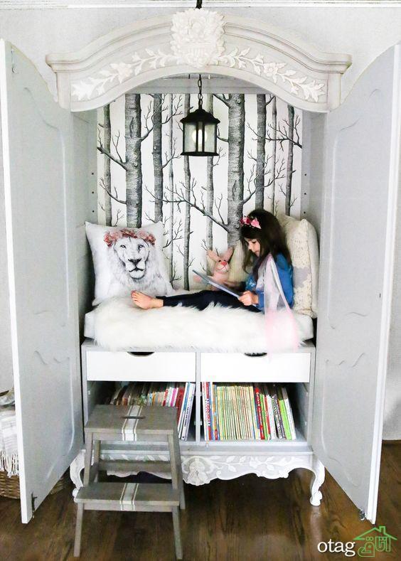 زیباترین مدل های قفسه و کتابخانه بچه ها [مدل های نو اتاق کودک]